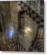 Church Stairs Above Metal Print