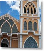 Church Steeple In Ibarra Metal Print