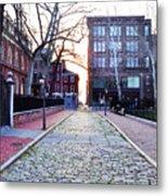 Church Street Cobblestones - Philadelphia Metal Print by Bill Cannon