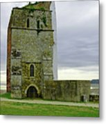Church Tower - Remains Of St Helens Church Metal Print