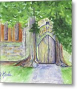 Church Trees Metal Print
