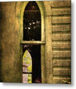 Church Window Church Bell Metal Print