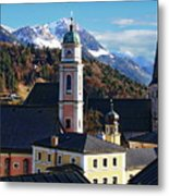 Churches In Berchtesgaden Metal Print