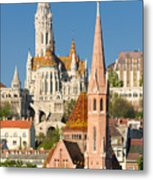 Churches In Budapest Hungary Metal Print