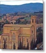 Churches Of Sienna Metal Print