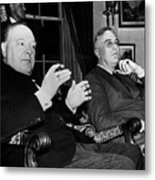Churchill & Roosevelt Metal Print
