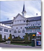 Churchill Downs Paddock Area Behind The Twin Spires Metal Print