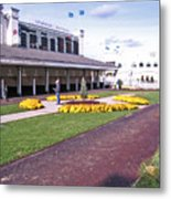 Churchill Downs Paddock Area Metal Print