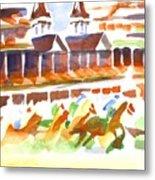 Churchill Downs Watercolor Metal Print
