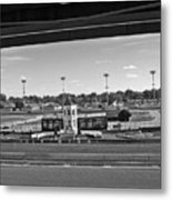 Churchill Downs' Winner's Circle In Black And White Metal Print