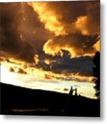 Churning Clouds 1 Metal Print