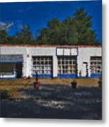 Churton St Blue Metal Print
