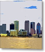 Cigar City Skyline Metal Print