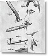 Cigar Holder  Metal Print