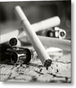Cigarette And Lighters Metal Print