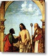 Cima Da Conegliano The Incredulity Of St Thomas With St Magno Vescovo Metal Print