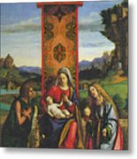 Cima Da Conegliano The Madonna And Child With St John The Baptist And Mary Magdalen Metal Print
