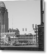 Cincinnati And Building  Metal Print