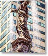 Cincinnati Fountain Genius Of Water By Tyler Davidson  Metal Print by Paul Velgos