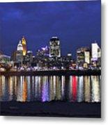 Cincinnati Night Lights Metal Print