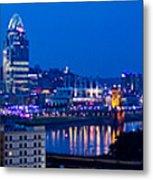 Cincinnati Skyline At Night Metal Print