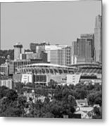 Cincinnati Skyline From Above  Metal Print