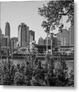 Cincinnati Skyline Through Trees Metal Print