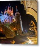 Cinderella And Her Castle Metal Print