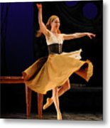 Cinderella At Home In Rags En Pointe With One Shoe After The Bal Metal Print