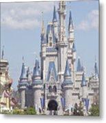 Cinderella Castle At Walt Disney World Metal Print