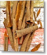 Cinnamon Bark Metal Print