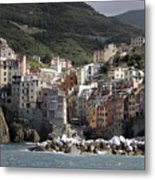 Cinqueterre From The Sea Metal Print