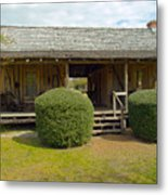 Circa 1900 Dogtrot Cabin Of Ephriam Brown From Lake Mills Florida Metal Print