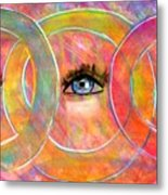 Circle Of Eyes Metal Print