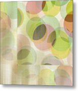 Circle Pattern Overlay Metal Print