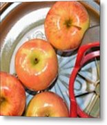 Circles 1 - Apples Metal Print