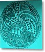 Circular Art Metal Print