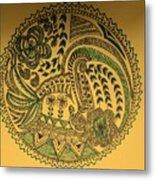 Circular Artwork Metal Print