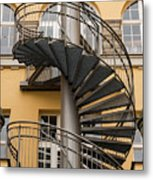 Circular Staircase Metal Print