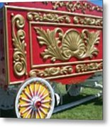 Circus Car In Red And Gold Metal Print