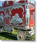 Circus Car In Red And Silver Metal Print