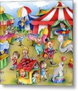 Circus In Town Metal Print