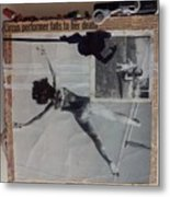 Circus Performer Falls To Her Death Metal Print