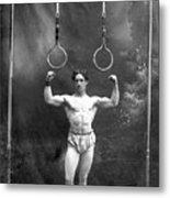 Circus Strongman, 1885 Metal Print