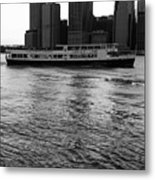 Cities And Rivers Ny1 Metal Print