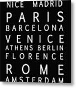 Cities Of Europe Metal Print