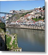 Cities Of Porto And Gaia In Portugal Metal Print
