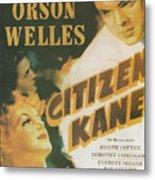 Citizen Kane - Orson Welles Metal Print