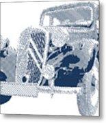 Citroen Traction Avant  - Parallel Hatching Metal Print