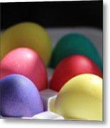 Citrus and Ultra Violet Easter Eggs Metal Print